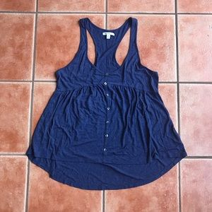 American Eagle Outfitters Tops - American Eagle Tank 🦚 Button Front Racerback Top